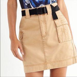belted cargo skirt